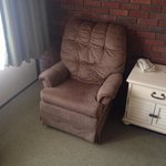 1980's recliner and curtains