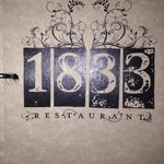 Cover page for bar area in restaurant 1833.