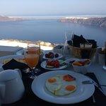 Complimentary breakfast on the balcony
