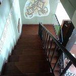 Escaleras al hostel