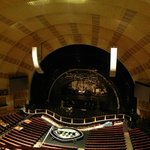Única vista do palco no tour