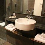 The bathroom, very modern!