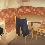 front room of caravan