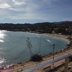 la plage depuis le balcon