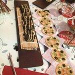 Minipizzas del Tickets y algas con sesamo