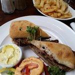 Steak sandwich in Bar