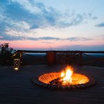 Sunset by the fire pit
