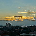Sunset view from the Sky Deck (upper deck)