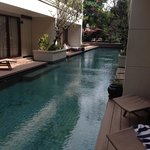 Direct access to the pool from the room