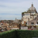 View of Rome from the roof terrace