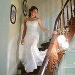 Bride descending the staircase