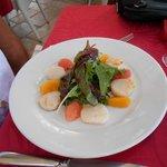 Carpaccio de St-Jacques aux agrumes