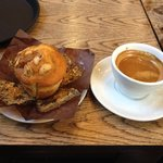 Double espresso and banana & toffee muffin!