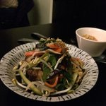 Viet salad - pickled veggie with braised pork & prawns