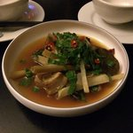 Pork ribs hot and sour soup with kohlrabi