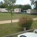 "vu de notre terrasse ""camp de manouche"""
