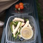 £7.25 Coated chicken salad! Rip off Warwick castle