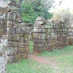 Parte de las viviendas de los guaraníes