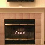 nice fireplace in the livingroom.
