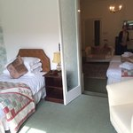 2nd room with twin and a walk-out to a balcony overlooking the gardens