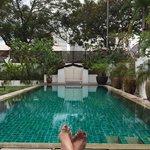The beautiful relaxing pool