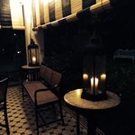 The main house at night is very romantic