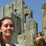 Medieval falconry at the castle