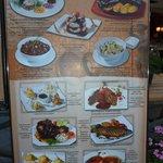 Mehrsprachige Speisekarte