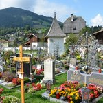 View of the cemetery.