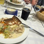 Fish dish of the day and home brewing beer