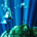 Cenote Taj Mahal - underwater