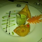 The chicken samosas. Tasty starter