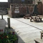 The courtyard is a real suntrap