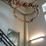 Interesting bottle chandelier