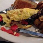 Delicious Spinach, Feta, Tomato and Mushroom Omelet!