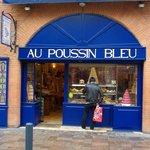 Au poussin bleu à Toulouse.  Photo à ajouter à mon commentaire envoyé juste avant. Merci ! C