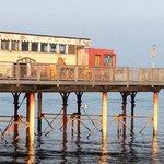 Shabby, old Teignmouth pier.