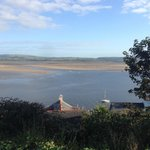 View over estuary from room