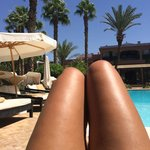 Beautiful view from double sun bed