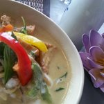 Hot, delicious,  green curry. Perfect. ..can't wait to return