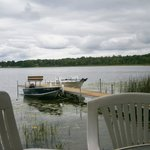 Looking at dock from deck