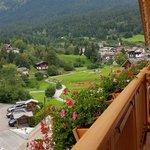 Il panorama dal balcone della mia stanza al Bass hotel