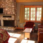 Room seating area / fireplace / TV