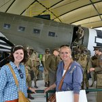 My niece (left) with Monica Baan from D-Day Battle Tours