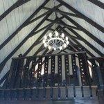 Ceiling in the breakfast area.