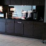 Breakfast counter in reception lobby