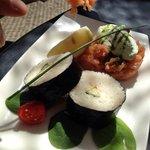 Tartare de saumon et maki avocat