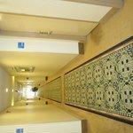Corridor-stained doorways