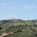 View of San Gimignano from 1st Vineyard