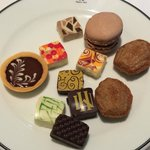 An assortment from the chocolate buffet at Le Club